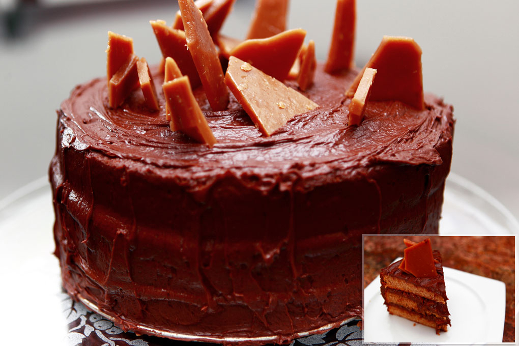 Chocolate Crunch Layer Cake With Milk Chocolate Frosting Recipe ...